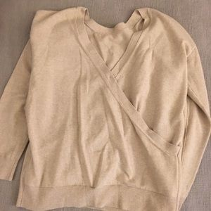 Banana republic v back sweater